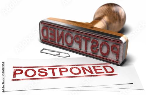 Leinwand Poster Postponed Event Announcement