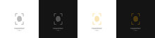Set Of Different Fingerprint Logos. Identity, Authorization Or Privacy Concept. Modern Style. Vector Illustration.