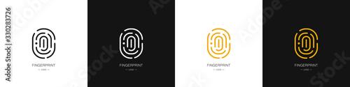 Photo Set of different fingerprint logos