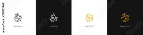 Set of different fingerprint logos Wallpaper Mural
