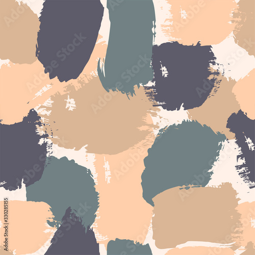 seamless pattern with brush strokes of different colors Wallpaper Mural