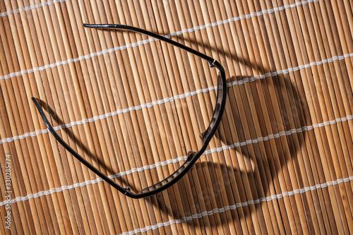 Photo Sunglasses on reed mat