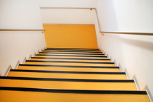 Yellow Stairs On Building