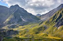 Alpine Tundra And Lakes At Hea...