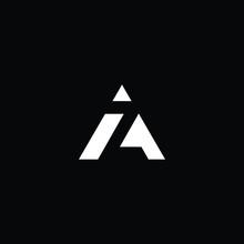 Minimal Elegant Monogram Art Logo. Outstanding Professional Trendy Awesome Artistic AZ ZA Initial Based Alphabet Icon Logo. Premium Business Logo White Color On Black Background