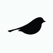 Black Silhouette Of A Bird On ...