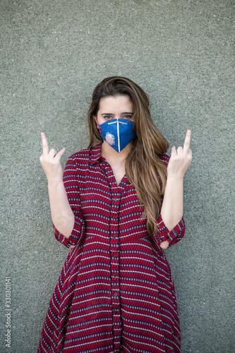 Offensive gesture Tablou Canvas