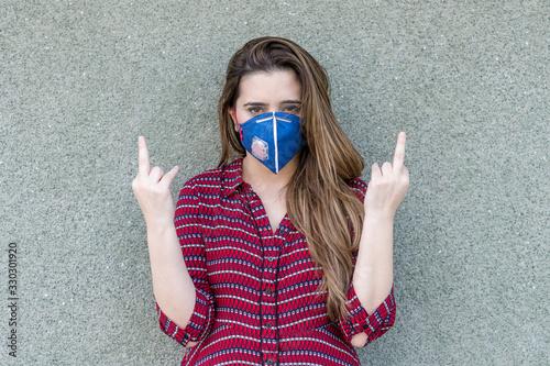 Fotografie, Tablou Offensive gesture