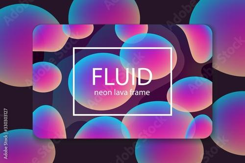 Business template with purple neon effect for multipurpose presentation Fototapeta