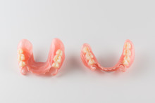 Image Of A Modern Denture On A White Background