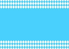 Oktoberfest Background With Blue-white Checkered Pattern, Banner