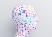 Abstract Human Head, 3d Render...