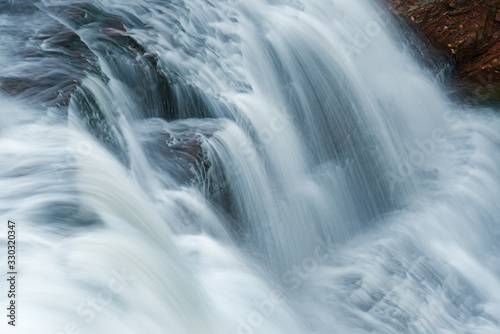 Landscape of agate Falls captured with motion blur, Michigan's Upper Peninsula, Canvas Print