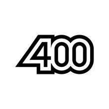 Number 400 Vector Icon Design