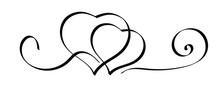 Hearts Icon On White Background