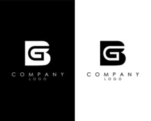 Initial Letters BG, GB Abstract Company Logo Design Vector