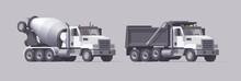 Vector Concrete Mixer Truck & ...