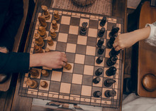 Newlyweds Play Chess Hands Of ...