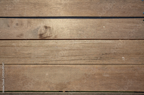Close-up of brown weathered boardwalk planks background. Canvas Print