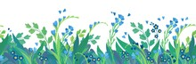 Floral  Flat Vector Template H...