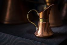 Old Copper Milk Jug For Breakf...