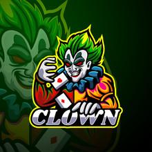 Clown Esport Logo Mascot Design