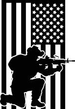Usa Flag Us Soldier Marine Svg Cut File Vector Cutfile Cricut Silhouette