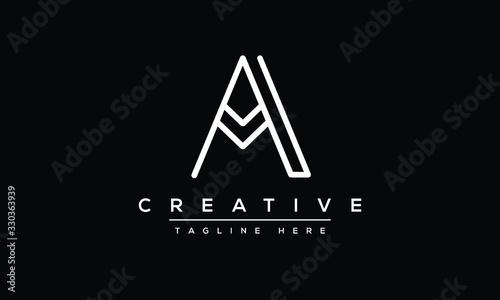 Unique modern minimalist creative letter A logo design Tableau sur Toile