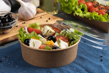 Greek Salad In Eco Packaging W...