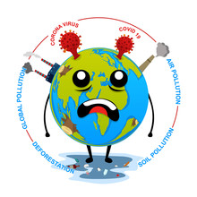 Globe Corona Virus And Other Pollution
