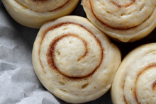 Raw Cinnamon Rolls Of Yeast Dough Ready To Be Baked