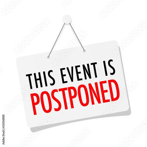 This event is postponed Fototapet