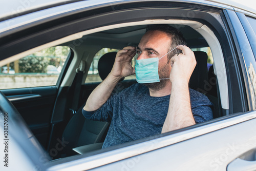 Obraz Man wearing protective - fototapety do salonu