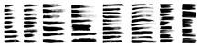 Brush Strokes, Black Ink Lines...