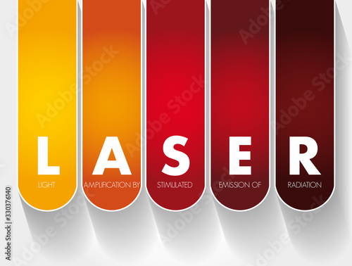 LASER - Light Amplification by Stimulated Emission of Radiation acronym, technol Canvas Print