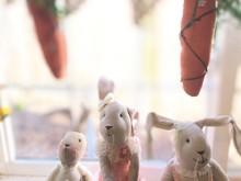 Old Stuffed Plush Easter Bunni...