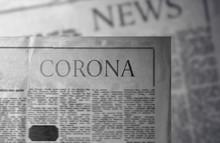 Corona - Newspaper Slogan. An ...