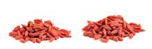 Dried Goji Berries On White Ba...