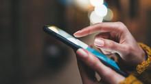 Point Finger On Screen Phone C...