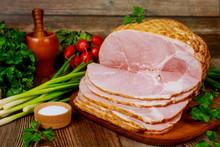 Smoked Boneless Ham With Veget...