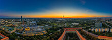 View Over Munich As A Sunrise ...