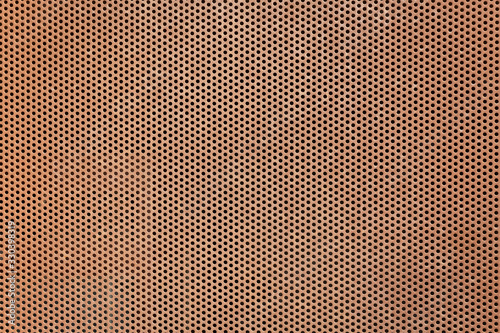 texture of a brown perforated metal plate background Canvas-taulu