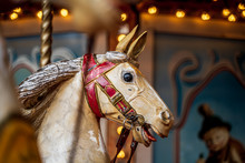 Old Vintage Carousel Horse