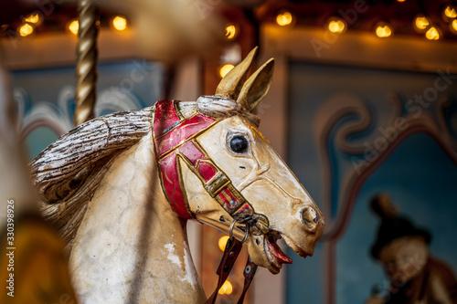 Fotografie, Obraz Old vintage carousel horse