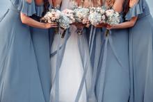 Beautiful Blue Dridesmaids Dre...
