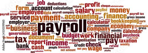 Photo Payroll word cloud