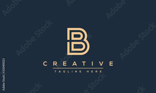 Modern abstract letter B logo design Wallpaper Mural
