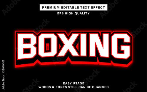 boxing editable text effect Fotobehang