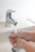 Thorough Hand Washing With Wat...