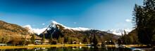 Mountain Landscape, Winter, Fr...